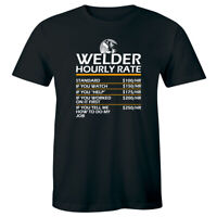 Welder Hourly Rate Men's T-Shirt Funny Weld Shirt Welding Gift Tee for Him