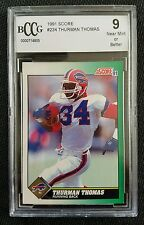 1991 Score THURMAN THOMAS Beckett (BCCG) 9 NM or Better BILLS