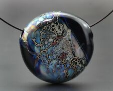 Handmade Lampwork hollow focal  Bead  by ikuyoglassart SRA
