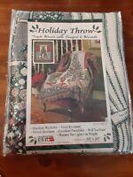 Vintage American Weavers Christmas Tree Tapestry Holiday Blanket Throw Unused