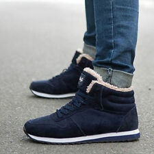 Men Women Snow Boots Ankle Booties Lace Up Fur Lined Winter Warm Sneaker UK3-13