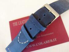 Cinturino pelle vintage ColaReb VENEZIA blue navy 24mm watch band strap correa