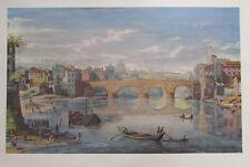 Gaspare van Wittel: Ponte Sisto, Rom - Vedute Kunstdruck art print