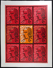 MAYEU PASSA, Original Linocut in 9 Panels, La Sorgues, Signed Numbered