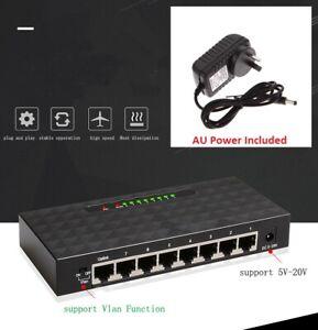 8-Port Gigabit Ethernet Desktop Network Switch Lan Hub 10/100/1000 Mbps