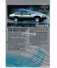 1982 Toyota Celica Silver Black 2-door Liftback Hatchback Vtg Print Ad