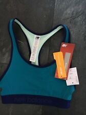 New Tags Sports Top Bra New Balance  Blue Uk 8 X Small