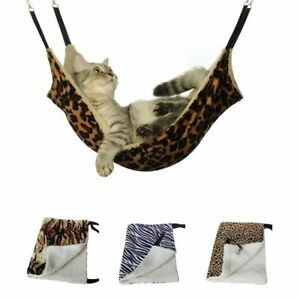 Cat Sleeping Hammock Hanging Bed Warm Jumping Seat Breathable Double Sided Mat