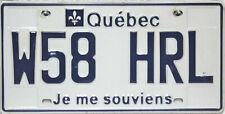 Quèbec  License Plate Kanada, Original Kennzeichen W58 HRL