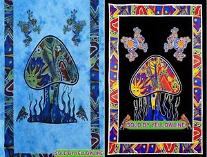2 piece Mushroom Tapestry Bohomen Indian Wall Hanging Wholesale (77cmX102cm)TB-3