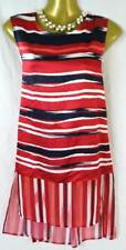 Per Una longer length red silky vest top, holiday, cruise size 12 M&S