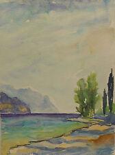 Künstlerische Aquarelle (ab 1945) im Impressionismus-Kunststil von 1950-1999