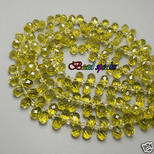 30 Pcs Topaz Top-drilled Faceted Teardrop Glass Crystal Beads 13×8mm-CH232