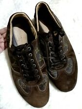 Authentic Louis Vuitton leather monogram and suede lace-up shoes sz 8.5 for men
