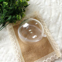 Clear Plastic Craft Ball Acrylic Transparent Sphere Bauble , christmas bauble GA
