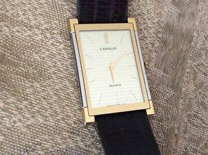 Vintage Lassale/Seiko Quartz Watch_ High Quality(14J)_UltraThin_2-Tone_Excellent