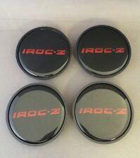 """1985 1986 1987 Chevy Camaro IROC-Z 16"""" Wheel Center Hub Caps Red SET of 4"""
