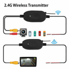 Black 2.4G Wireless Video Transmitter & Receiver for Car Rear Backup View Camera