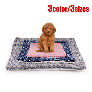 Large Indestructible Dog Bed Warm Plush Cushion Sleep Mat for Kennel Crate M-XL