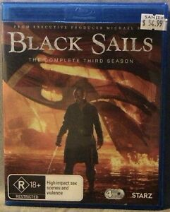 Black Sails - The Complete Season 3 - 4 Disc Blu-Ray Set - Excellent Condition