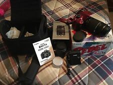 WoW!~RED~canon rebel t5 Bundle Lot- 2 Lenses, Camera Bag, 2 Batteries, DVD Etc.