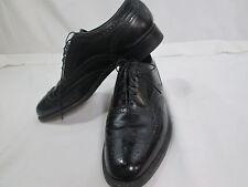 Florsheim mens s9 black leather wing tip dress oxford imperial display model