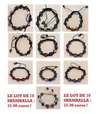 DESTOCKAGE LOT DE 10 Shamballa bracelet perle NEUF ET EMABALLEE