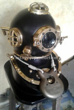 Vintage Antique Diving Helmet With Wooden Base US cheap costumes gift item