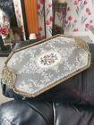 +Vintage+Hexagonal++Petit+Point+Filigree+Ormolu+Vanity%2F+Dressing+Table+Tray+