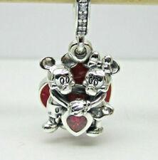 Authentic Pandora #797769CZR Disney Minnie and Mickey With Love Dangle Charm