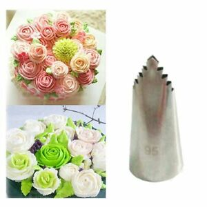 Baking Icing Pastry Tip Stainless Steel Leaves Nozzle Flowers Cake Decorating