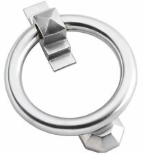 """Billington"" Satin Chrome Ring Door Knocker"