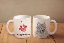 "Keeshond - ceramic cup, mug ""I love"", Ca !"