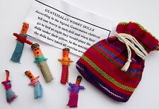 Worry Dolls People In Bag With Description Slip Guatemalan Folk Tradition Unisex