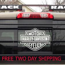 Harley davidson logo cutz rear window decal motorcycle truck car sticker lw