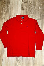 joli polo manches longues rouge POLO RED by RALPH LAUREN taille 10-12 ans (M)
