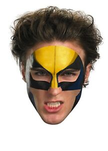 Wolverine Face Tattoo, Yellow, Disguise