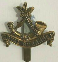 WW1 Royal Guernsey Light Infantry Regiment Cap Badge genuine