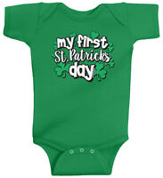 My First St. Patricks Day Infant Baby Bodysuit Boys Girls Clover Shamrock Irish