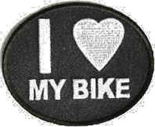 Iron On/ Sew On Embroidered Patch Badge I Love My Bike I Luv My Motorbike