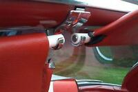 2 OLD SCHOOL CONVERTIBLE TOP SUN VISOR GROMMETS! LATE 50'S &EARLY 60'S GM (WHT)X