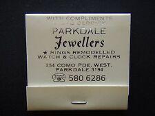 PARKDALE JEWELLERS 254 COMO PDE WEST 5806286 MATCHBOOK