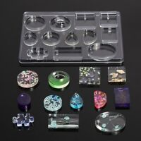 Silicone Resin Mold Geometric Epoxy Resin Mould For DIY Pendant Jewelry Making