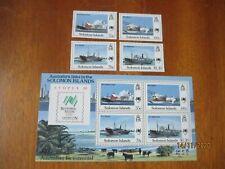 Solomon Islands 1988 ~ Bi-Cent/Australian Settlement & Sydpex ~ Sg#626-9 &MS630