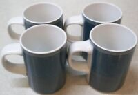 SET OF 4  DANSK   Gridworks    4  inch    Mugs   cups    Green   Portugal   MINT