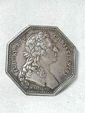 2/ JETON MÉDAILLE - France Louis XV Comita flandriae wallonensis Argent 1769