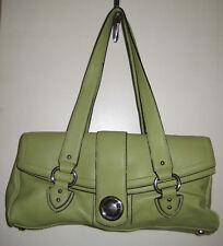 Marc Jacobs Light Green Leather Purse Push Clasp Satchel Shoulder Hand Bag