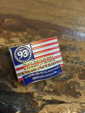 American Flag Flight 93 September 11 911 10 Year Remembrance NAPUS Pin