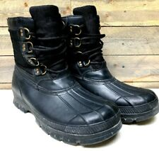 Polo Ralph Lauren Crestwick Waterproof Mountain Snow Boots Mens 13 D EUC Black 8