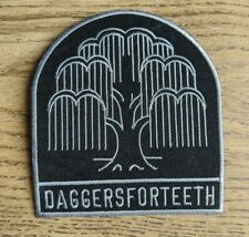 DAGGERS FOR TEETH Patch Punk Metal Rock Denim Leather Jacket Sew-On Iron-On